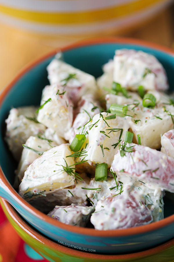 Healthy Red Potato and Dill Salad   tablefortwoblog.com