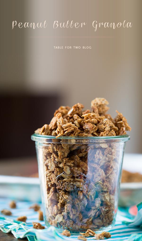 Peanut Butter Granola | www.tablefortwoblog.com