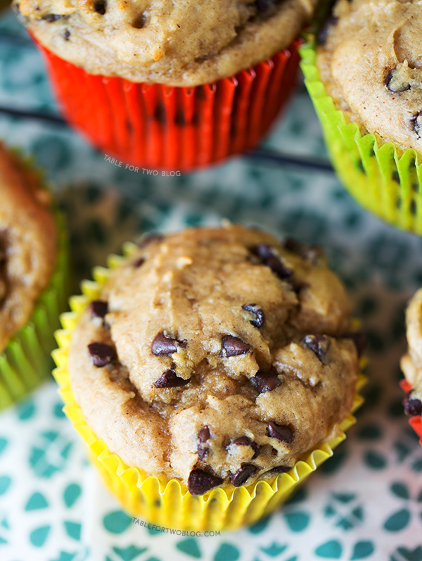 Banana Peanut Butter Chocolate Chip Muffins are the perfect way to use ...