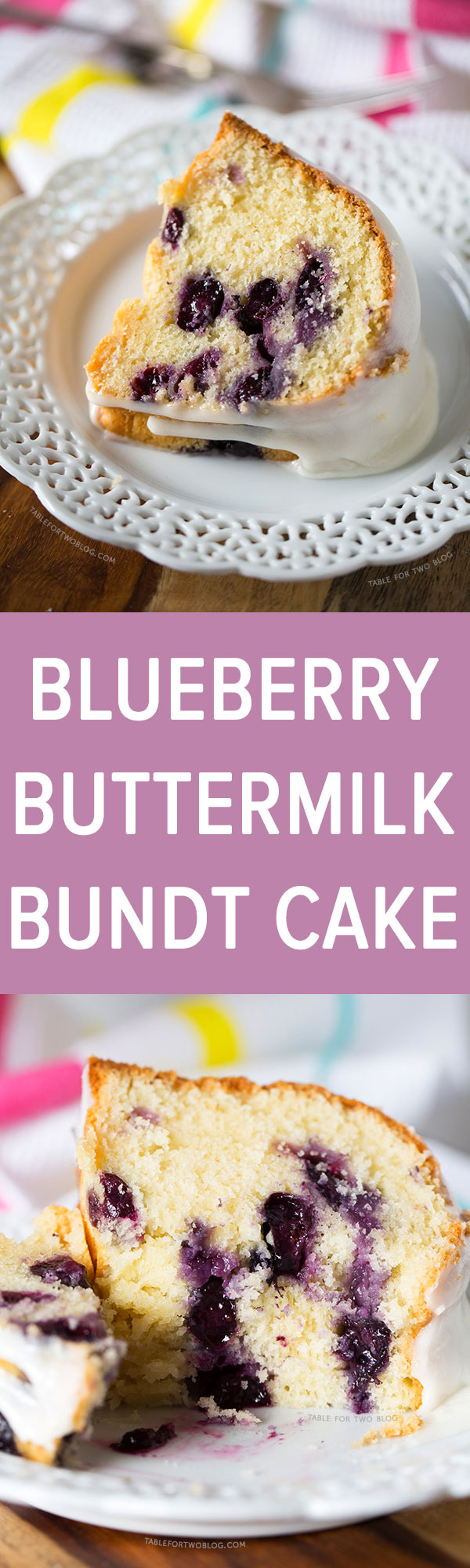 This blueberry buttermilk bundt cake is filled with fresh blueberries and topped with a thick sugar glaze. The cake is super tender and moist, and it will stay that way for several days!
