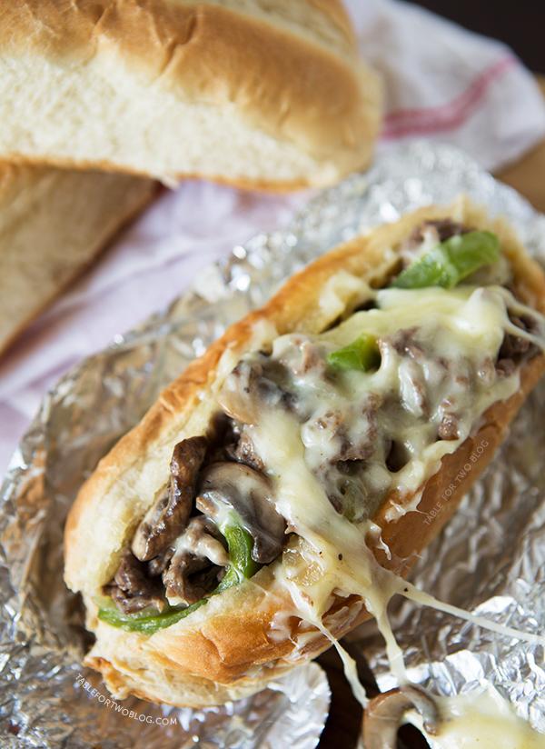 Cheesesteak Sandwiches | tablefortwoblog.com