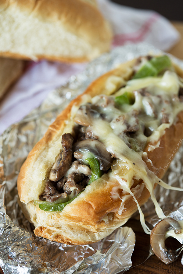 Cheesesteak Sandwiches | tablefortwoblog.com
