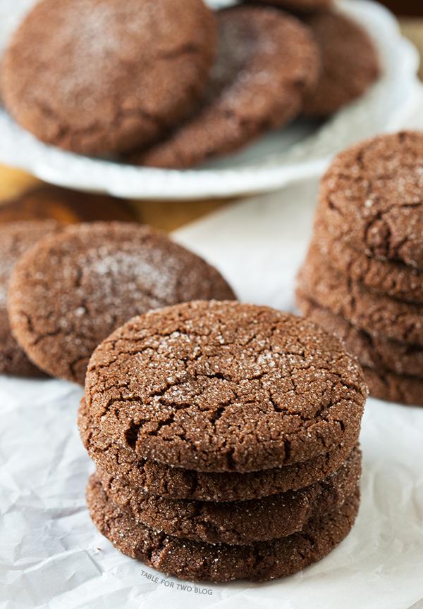 Chocolate Sugar Cookies   tablefortwoblog.com