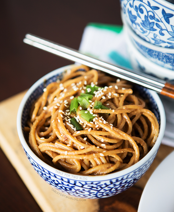 Cold Spicy Peanut Sesame Noodles | tablefortwoblog.com