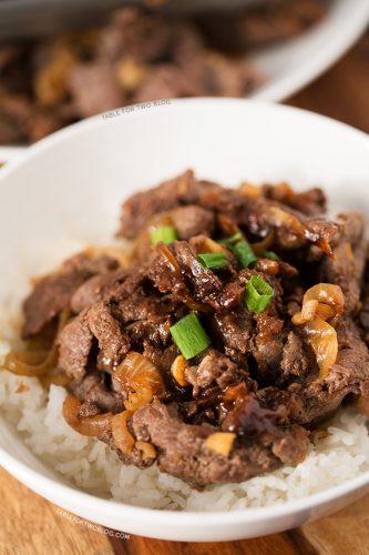 Korean Bulgogi | tablefortwoblog.com