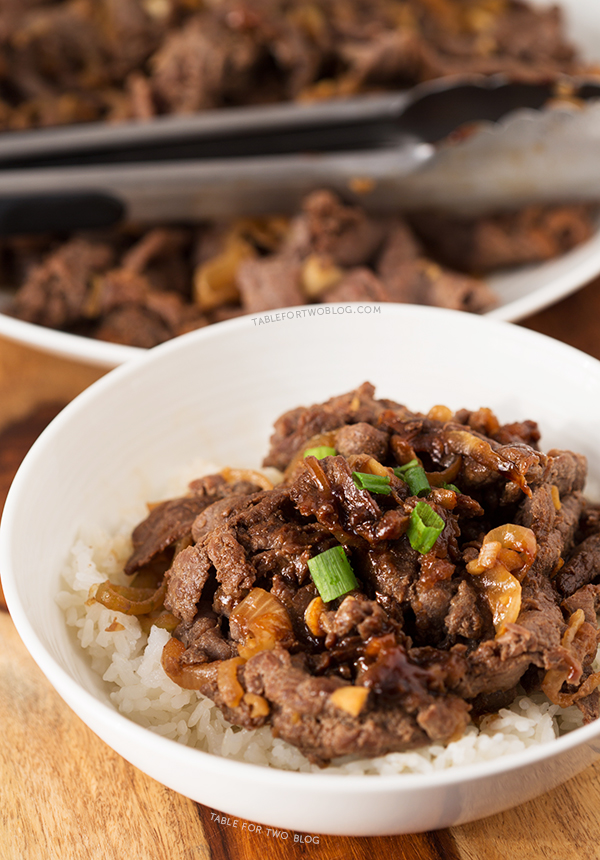 Korean Bulgogi | tablefortwoblog.com