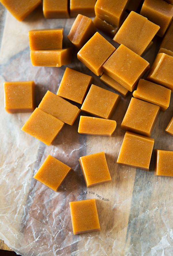 Apple Cider Caramels   tablefortwoblog.com