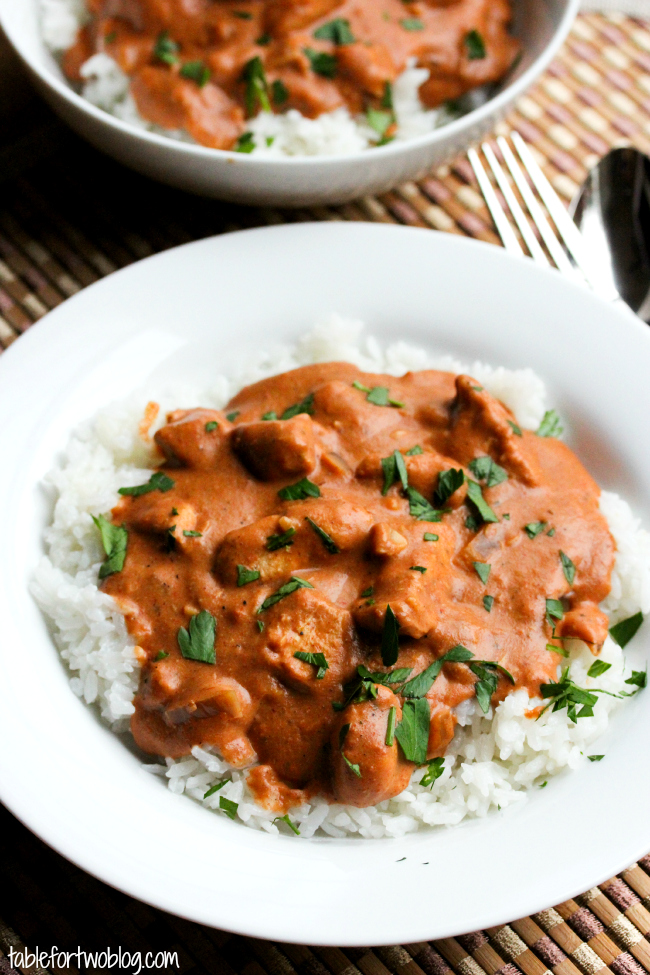 Slow Cooker Chicken Tikka Masala - Table for Two