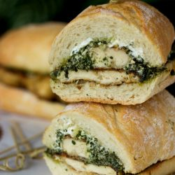 Goat Cheese Pesto Chicken Sandwich from www.tablefortwoblog.com