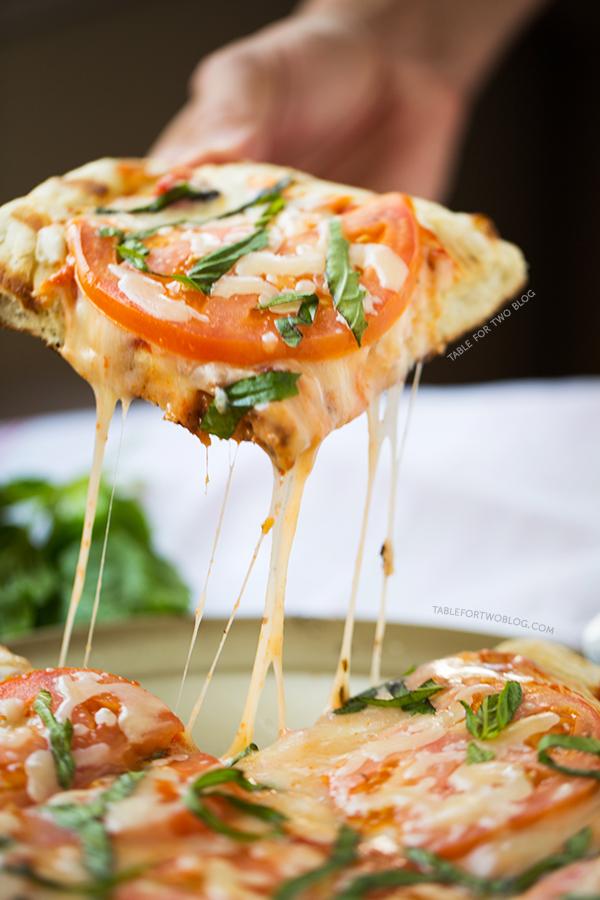 Grilled Caprese Pizza | tablefortwoblog.com