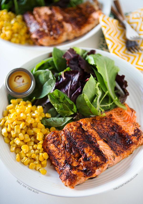 Grilled Coho Salmon | tablefortwoblog.com