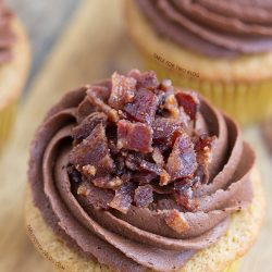 Maple Bacon Cupcakes from www.tablefortwoblog.com