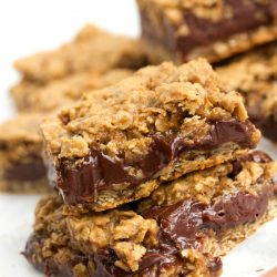 Oatmeal & Chocolate Cookie Bars from www.tablefortwoblog.com