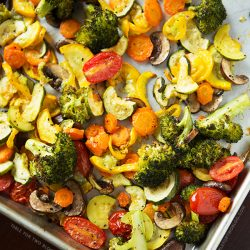 Roasted Vegetables | tablefortwoblog.com