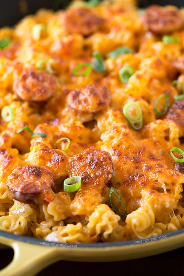 Spicy Sausage Pasta | tablefortwoblog.com