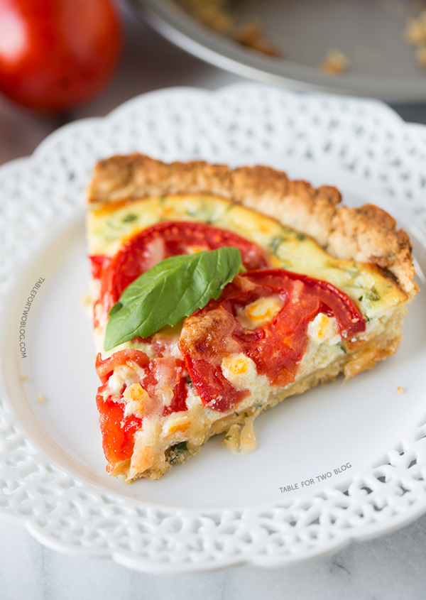 Tomato Ricotta Tart | tablefortwoblog.com