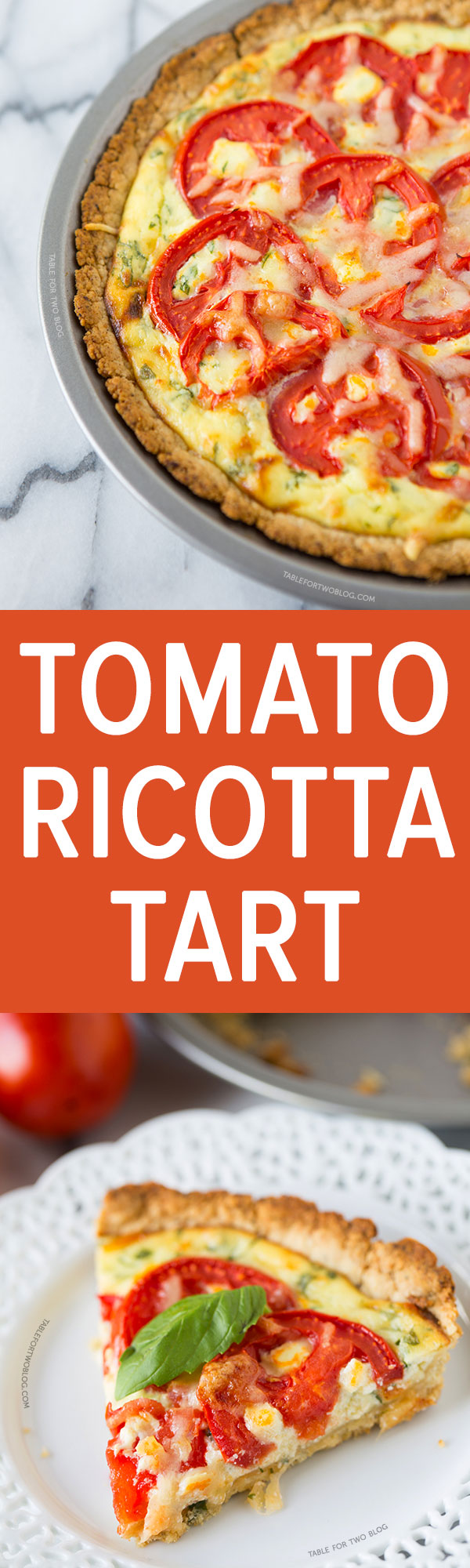 This tomato ricotta tart is full of fresh summer flavor that'll drag out the end of summer for just a little while! It takes very little prep and the flavors are incredible.