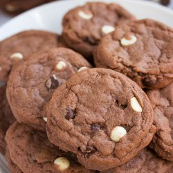 Triple Chocolate Cookies from www.tablefortwoblog.com