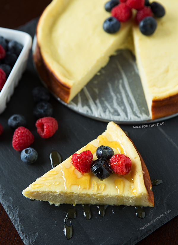 Goat Cheese Cake with Berries | tablefortwoblog.com