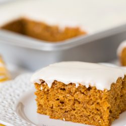 Pumpkin Spice Sheet Cake | tablefortwoblog.com