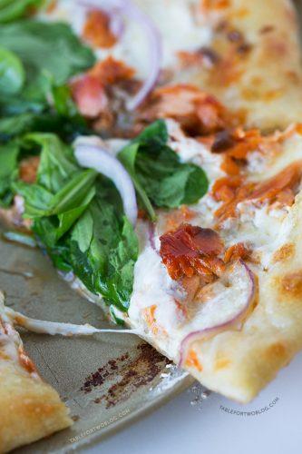 Smoked Salmon and Burrata Pizza | tablefortwoblog.com