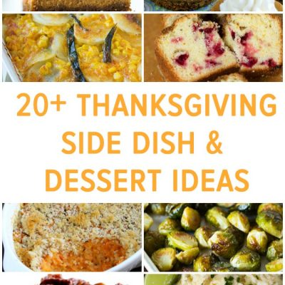 20+ Thanksgiving Side Dish and Dessert Ideas from tablefortwoblog.com
