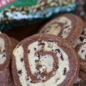 Chocolate-mint pinwheel cookies are so fun to make and the results are pretty to look at!
