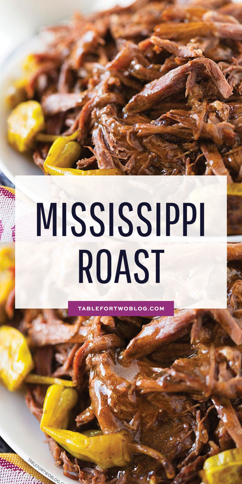 This Mississippi Roast involves a slow cooker, five simple ingredients, zero effort, 100% dinner & leftover satisfaction! #mississippiroast #roast #easydinner #dinner #roast