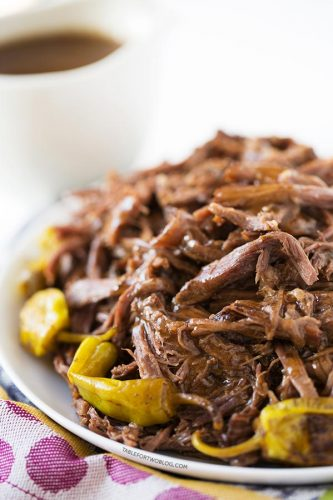 This Mississippi Roast involves a slow cooker, five simple ingredients, zero effort, 100% dinner & leftover satisfaction!