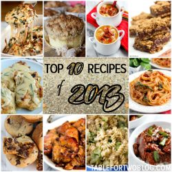 Top 10 Recipes of 2013 on tablefortwoblog.com