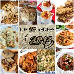 Top 10 Recipes of 2013 on tablefortwoblog.com