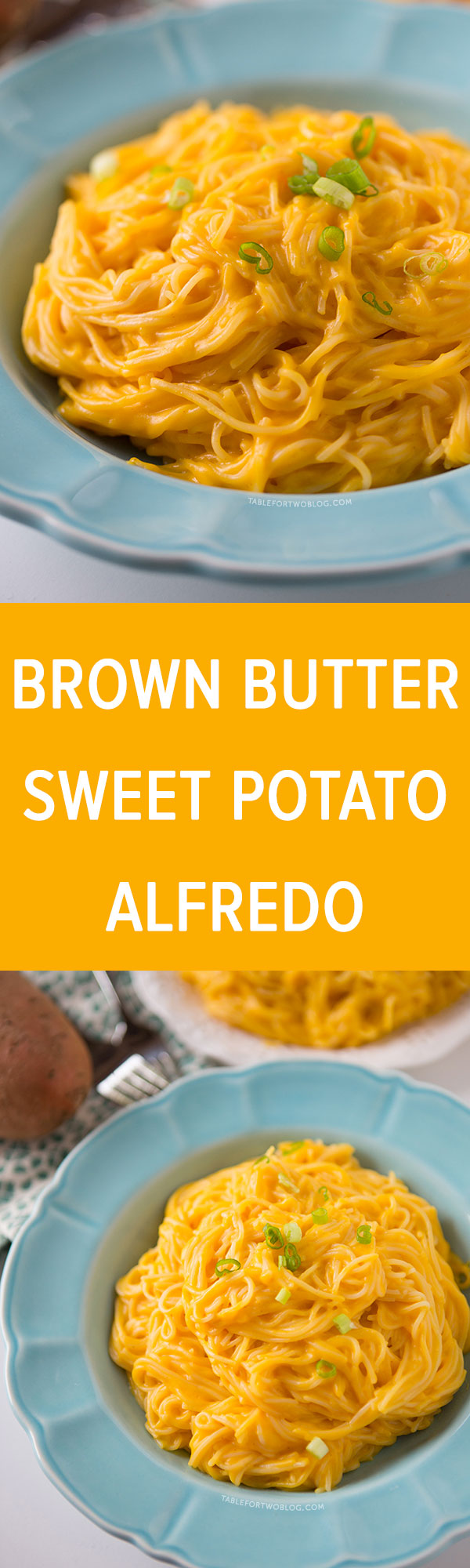 Brown Butter Sweet Potato Alfredo is a great alternative to the classic alfredo pasta dish!