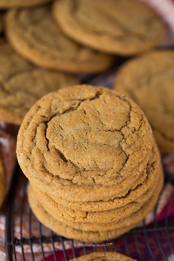 ... talk cookies! Super soft and chewy ginger molasses cookies, that is