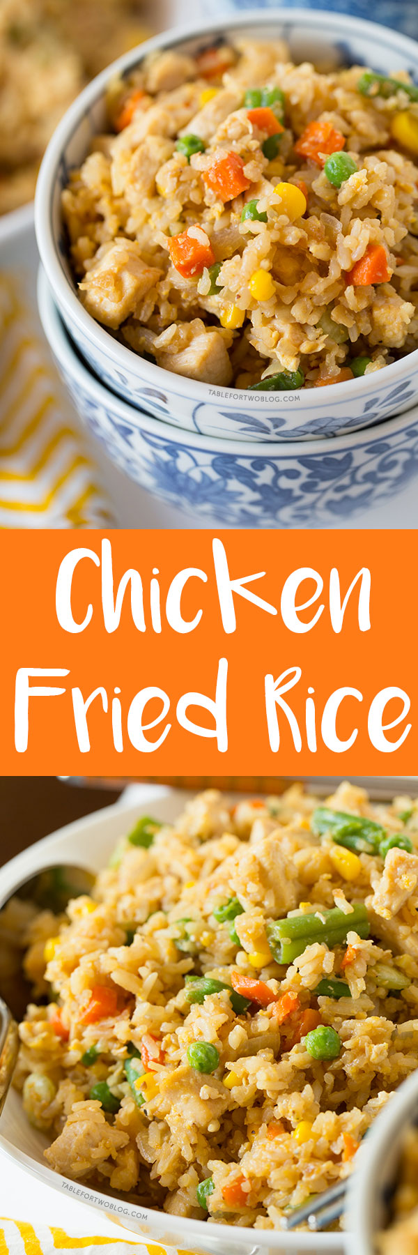 Take-out, fake-out chicken fried rice is so easy to whip up yourself that you won't need to call for take-out!