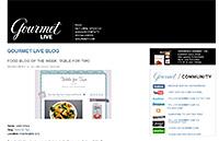 Gourmet Live – Blog of the Week