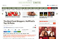 Huffington Post – The Top 10 Best Food Bloggers