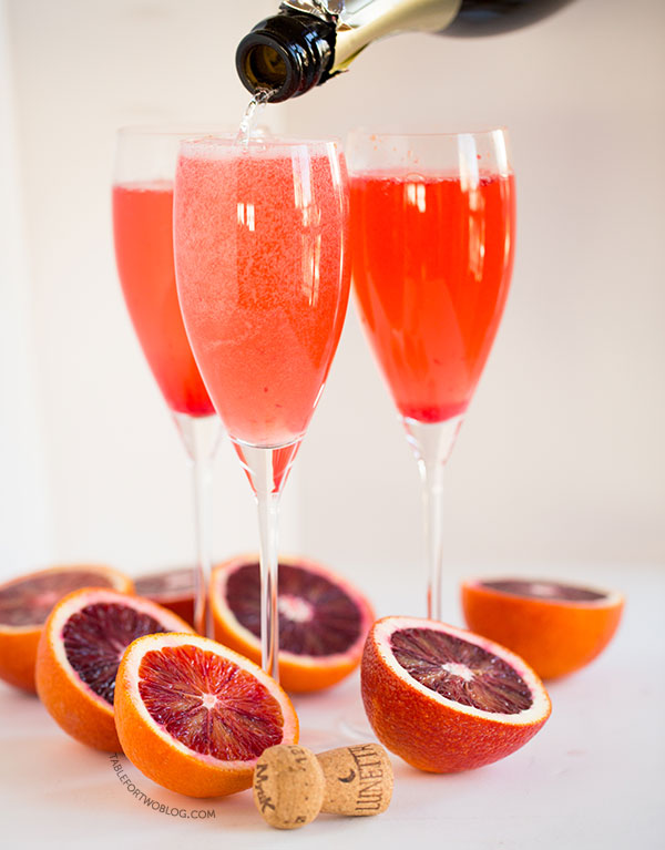 Blood Orange Bellinis - Table for Two® by Julie Wampler