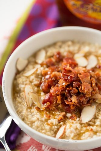 A salty sweet combination for your daily breakfast oatmeal!