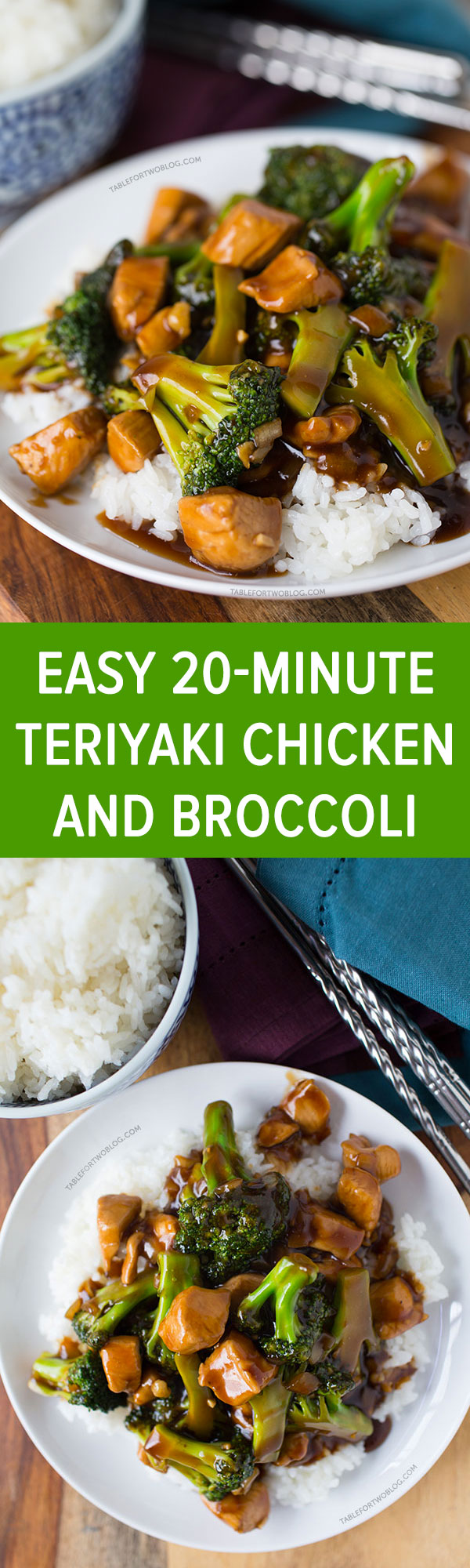 easy 20-minute teriyaki chicken and broccoli - table for two®