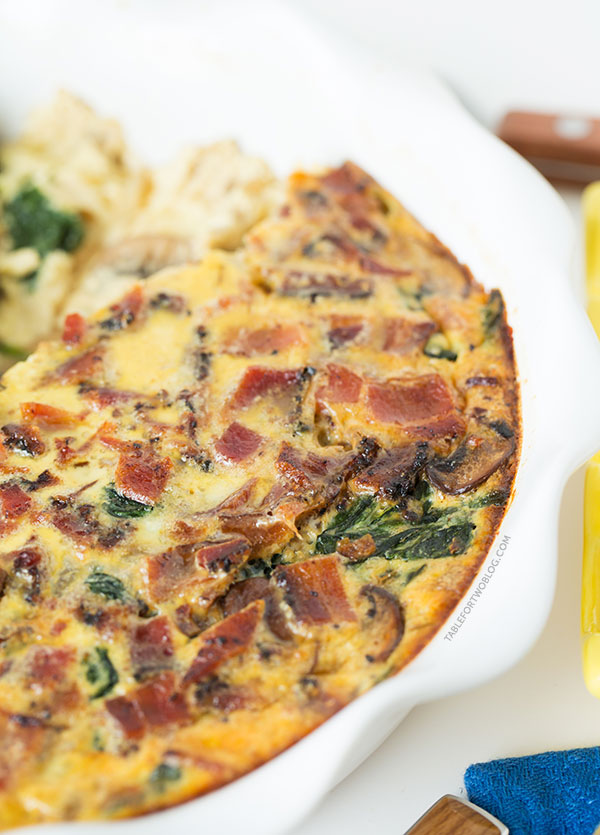 ... Bacon, Spinach, and Mushroom Quiche will be the star at your