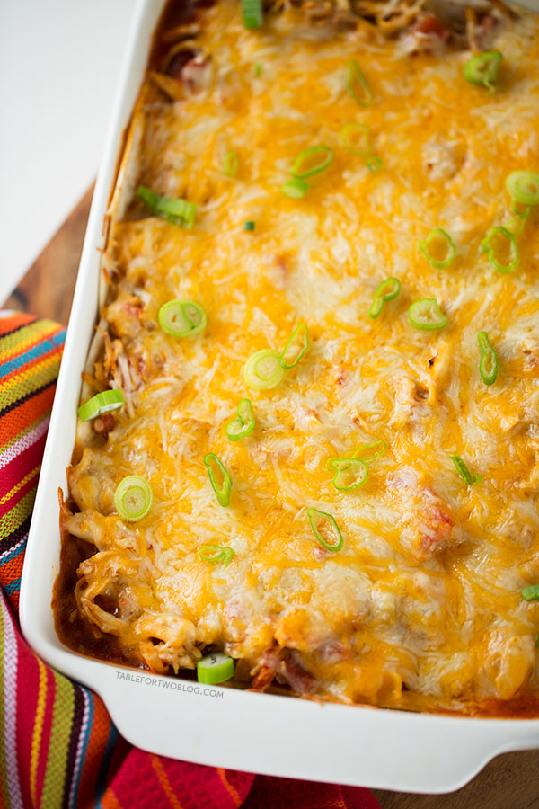 Stacked chicken enchiladas are the way to go if you're craving Mexican ...