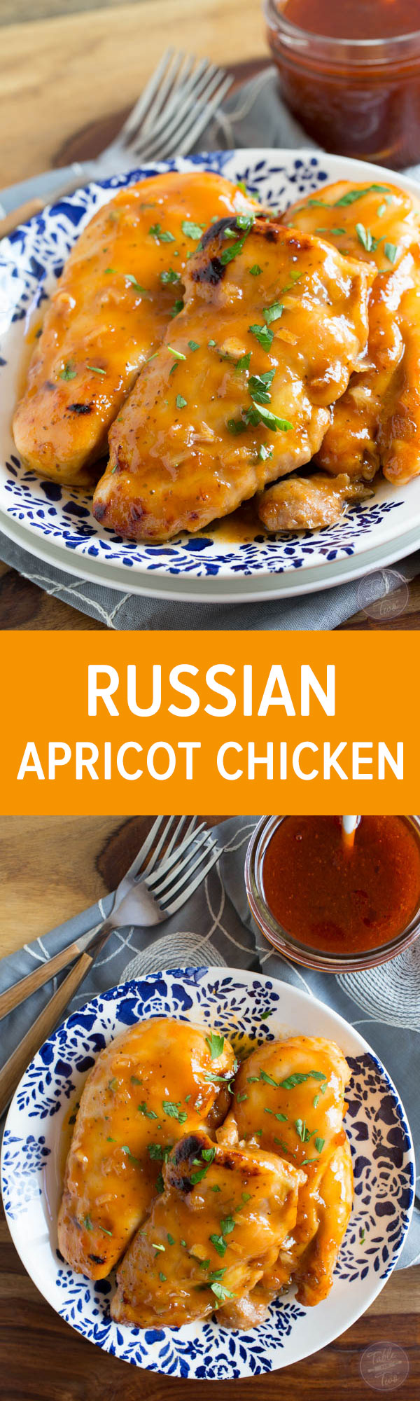 4 ingredients only! If you love sweet and tangy flavors, then you'll love this Russian apricot chicken recipe! It's plate-licking good!