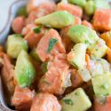 Salmon ceviche is so easy to make! A great appetizer for any meal!