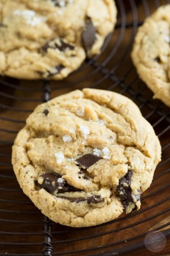 Salted Chocolate Chunk Cookies are for the sweet and salty lovers!