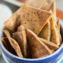 Homemade seasoned pita chips are so easy to make and perfect to pair with your favorite dip and favorite game on TV!