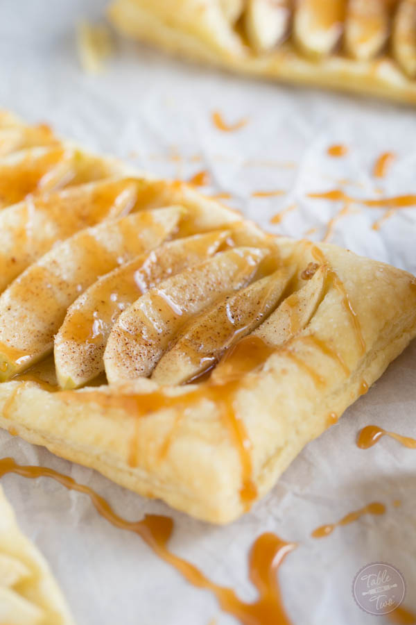 These salted caramel apple tarts look elegant and tedious to make but they're just the opposite of hard!