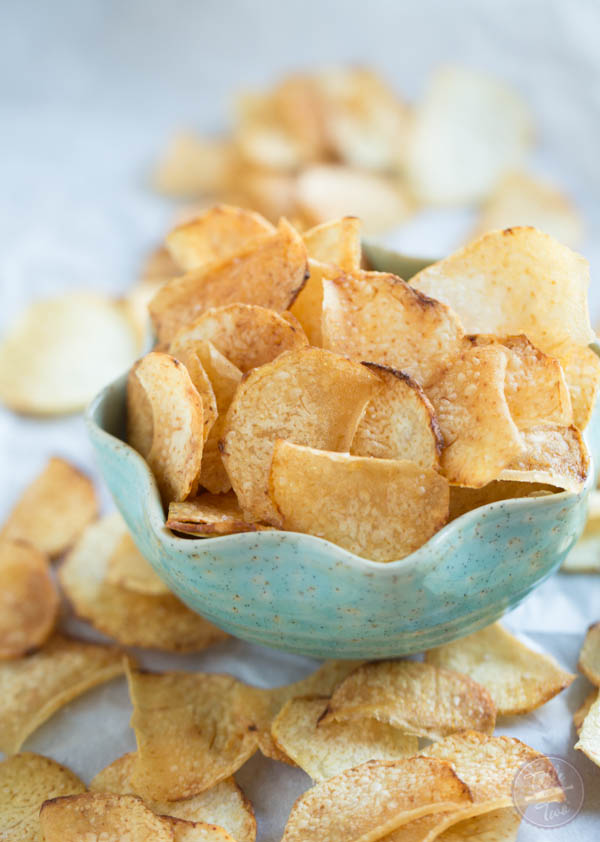 Taro chips are so easy to make at home yourself and you get a lot more than those bags at the grocery store!
