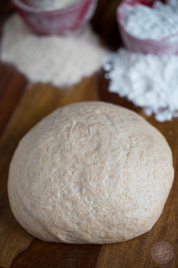 This homemade pizza dough blend combines the best of both worlds! White & whole wheat flours will make this pizza dough blend a staple in your house!