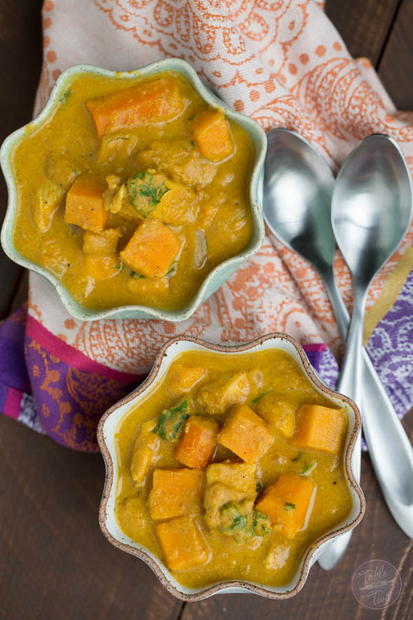 The BEST slow cooker dish you'll have this season! If you love the flavors of Indian cuisine, this is slow cooker pumpkin coconut curry is a KEEPER!