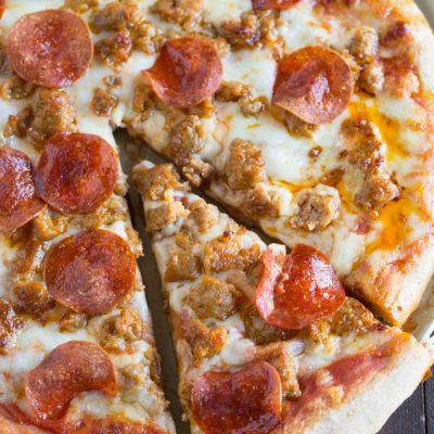 Spicy Sausage And Pepperoni Pizza Table For Two By Julie Wampler